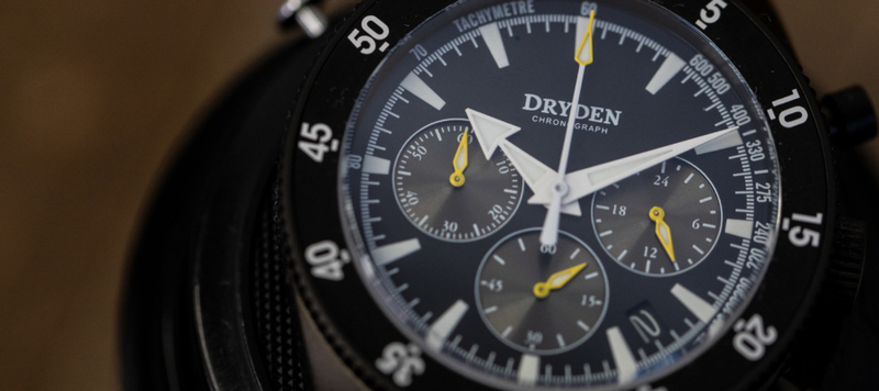 First Look: Dryden Watch Company Chrono Diver Series 1