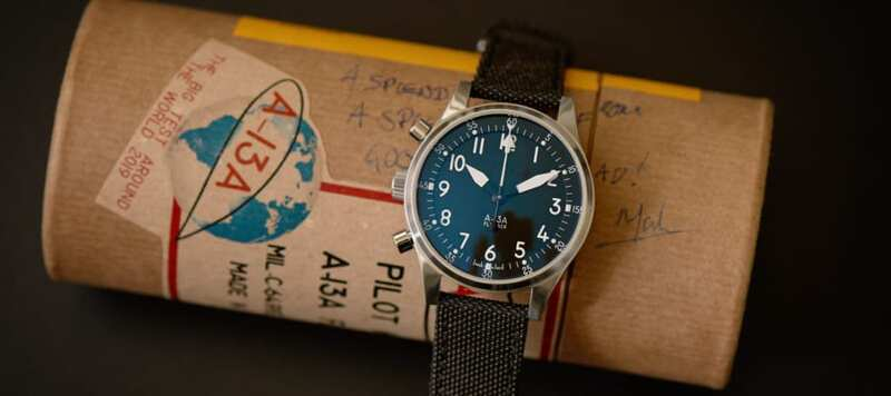 First Look: The A-13A Pilot's Chronograph Is Going Mechanical (with Central-Minutes and Flyback Functions!)