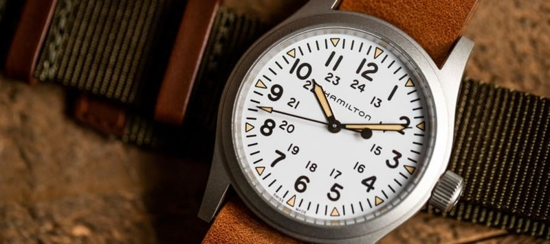 The Hamilton Khaki Field Mechanical With a White Dial, Now Available Through Topper Jewelers